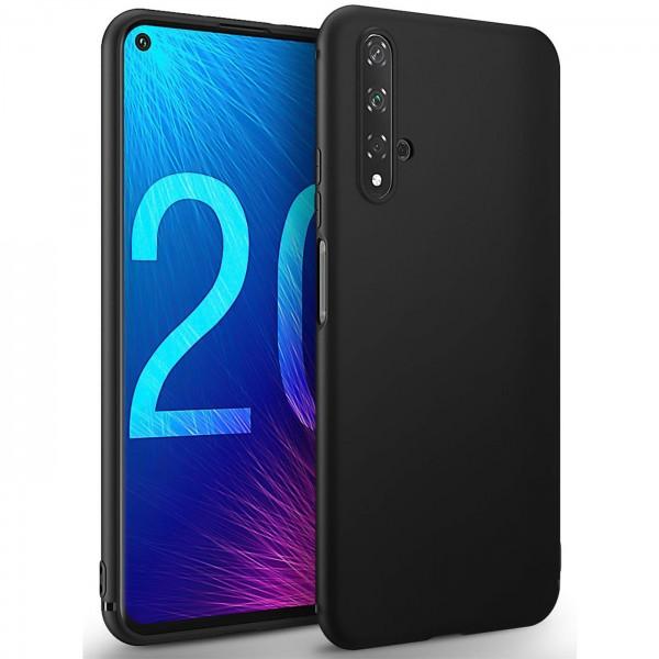 Safers Classic TPU für Huawei Nova 5T Schutzhülle Hülle Schwarz Handy Case