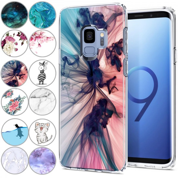 Safers IMD Case für Samsung Galaxy S9 Hülle Silikon Case mit Muster Schutzhülle