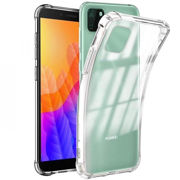 Safers Rugged TPU für Huawei Y5p Schutzhülle Anti Shock Handy Case Transparent Cover