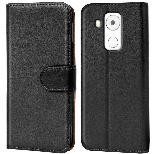 Safers Basic Wallet für Huawei Mate 8 Hülle Bookstyle Klapphülle Handy Schutz Tasche