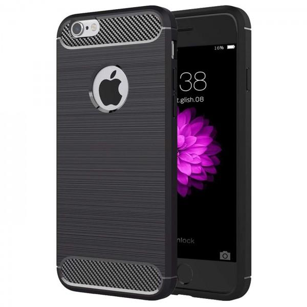 Safers Carbon Hülle für Apple iPhone 6 / 6S Schutzhülle Handy Case Cover