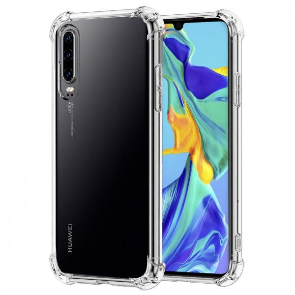 Safers Rugged TPU für Huawei P30 Schutzhülle Anti Shock Handy Case Transparent Cover