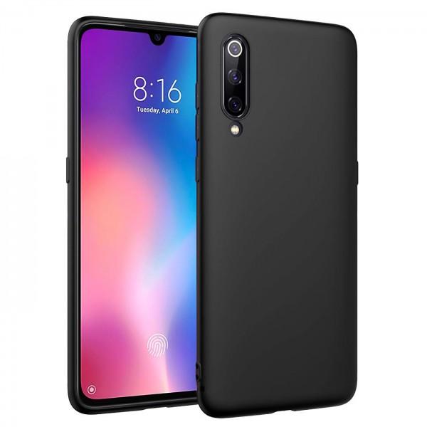 Safers Classic TPU für Xiaomi Mi 9 Schutzhülle Hülle Schwarz Handy Case
