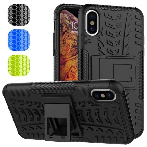 Safers Outdoor Hülle für Apple iPhone XS Max Case Hybrid Armor Cover Schutzhülle