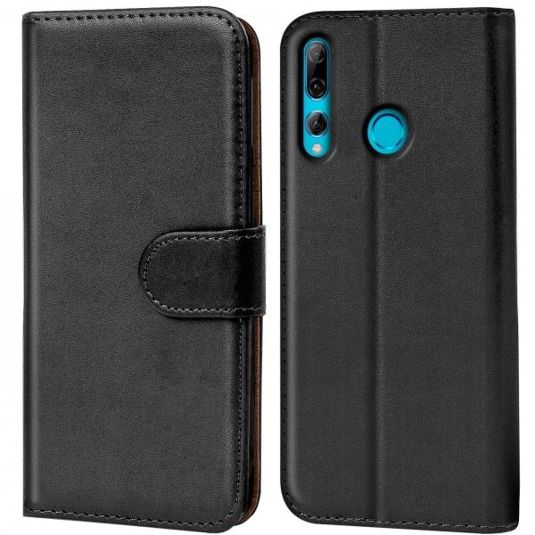 Safers Basic Wallet für Huawei P Smart Plus 2019 Hülle Bookstyle Klapphülle Handy Schutz Tasche