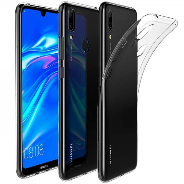 Safers Zero Case für Huawei Y7 2019 Hülle Transparent Slim Cover Clear Schutzhülle