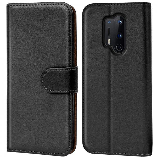 Safers Basic Wallet für OnePlus 8 Pro Hülle Bookstyle Klapphülle Handy Schutz Tasche