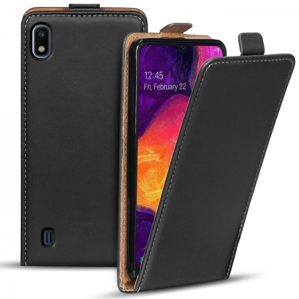 Safers Flipcase für Samsung Galaxy A10 Hülle Klapphülle Cover klassische Handy Schutzhülle