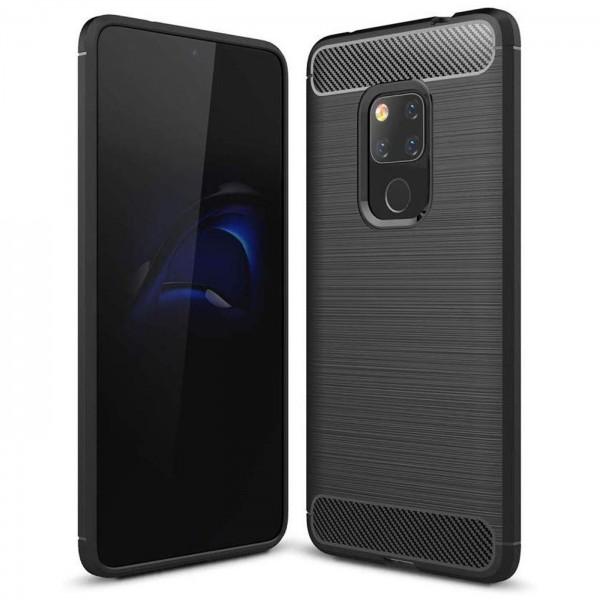 Safers Carbon Hülle für Huawei Mate 20 Schutzhülle Handy Case Cover