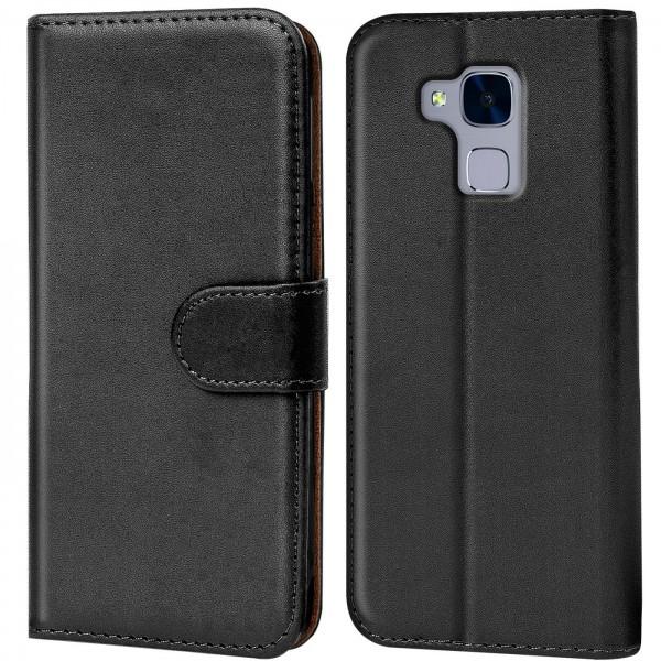 Safers Basic Wallet für Huawei GT3 Hülle Bookstyle Klapphülle Handy Schutz Tasche