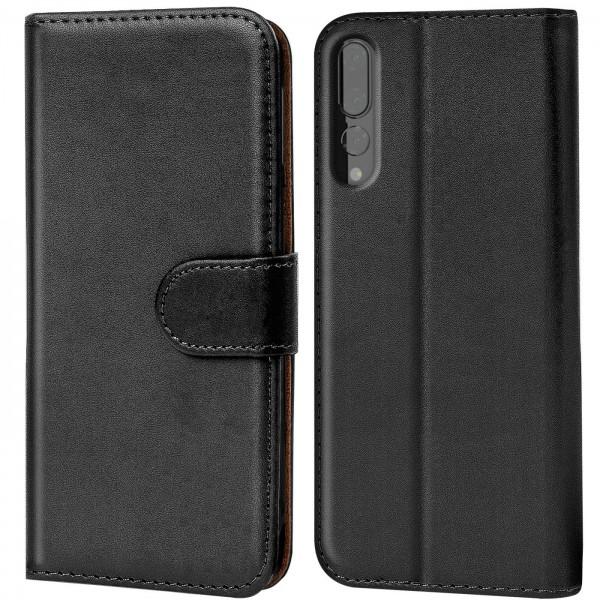 Safers Basic Wallet für Huawei P20 Pro Hülle Bookstyle Klapphülle Handy Schutz Tasche