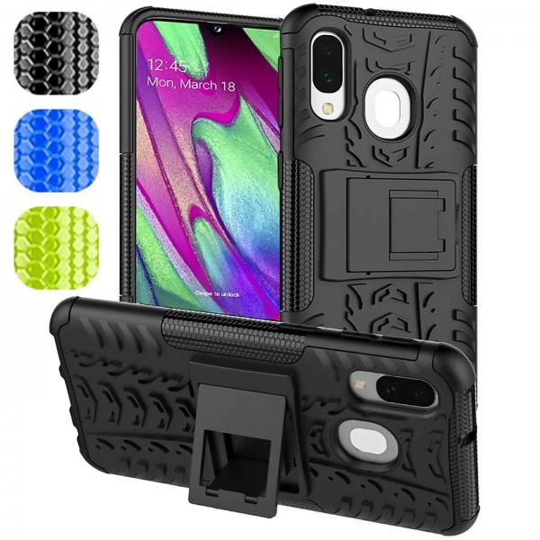 Safers Outdoor Hülle für Samsung Galaxy A40 Case Hybrid Armor Cover Schutzhülle