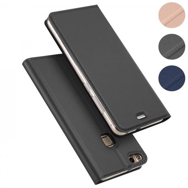 Safers Electro Flip für Huawei P10 Lite Hülle Magnet Case Handy Tasche Klapphülle