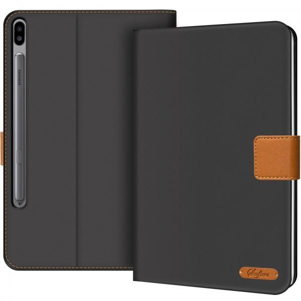 Safers Texture Case für Samsung Galaxy Tab S6 10.5 Hülle Tablet Tasche mit Kartenfach