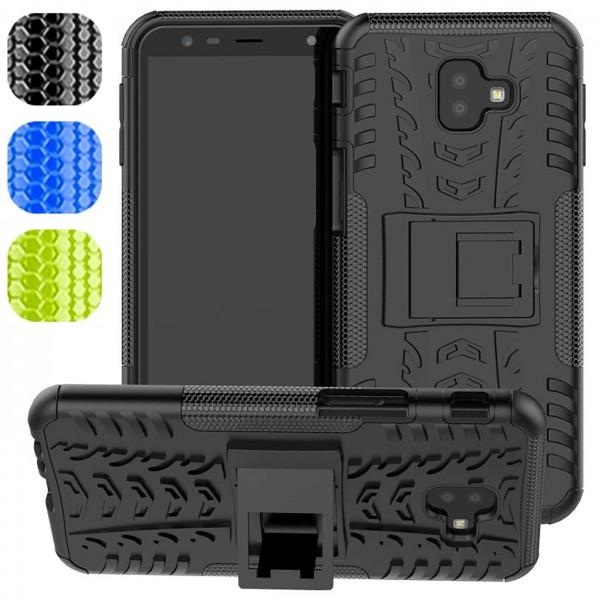Safers Outdoor Hülle für Samsung Galaxy J6 Plus / J4 Plus Case Hybrid Armor Cover Schutzhülle