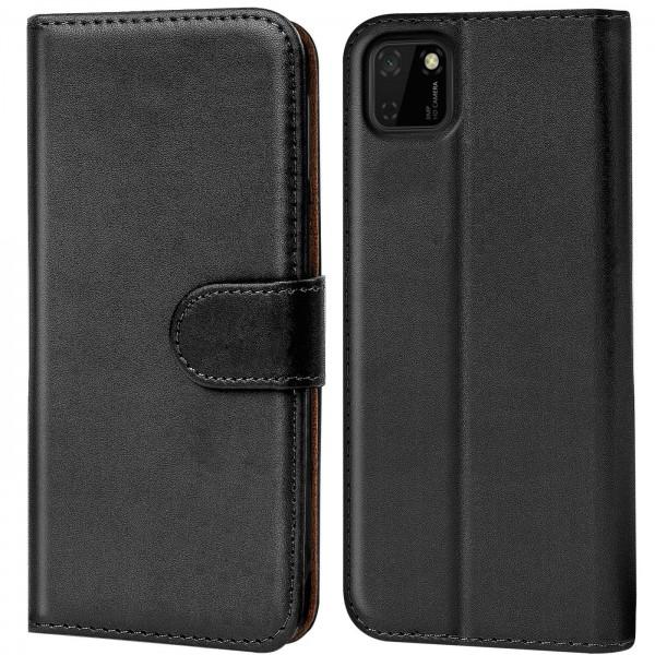 Safers Basic Wallet für Huawei Y5p Hülle Bookstyle Klapphülle Handy Schutz Tasche