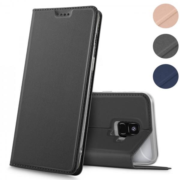Safers Electro Flip für Samsung Galaxy A6 Hülle Magnet Case Handy Tasche Klapphülle