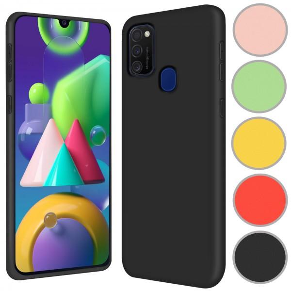 Safers Color TPU für Samsung Galaxy M30s / M21 Hülle Soft Silikon Case mit innenliegendem Stoffbezug