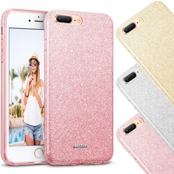 Safers Shiny für Apple iPhone 7 Plus / 8 Plus Hülle Glitzer Cover TPU Schutzhülle