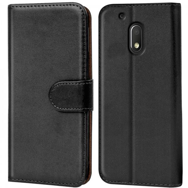 Safers Basic Wallet für Motorola Moto G4 Play Hülle Bookstyle Klapphülle Handy Schutz Tasche