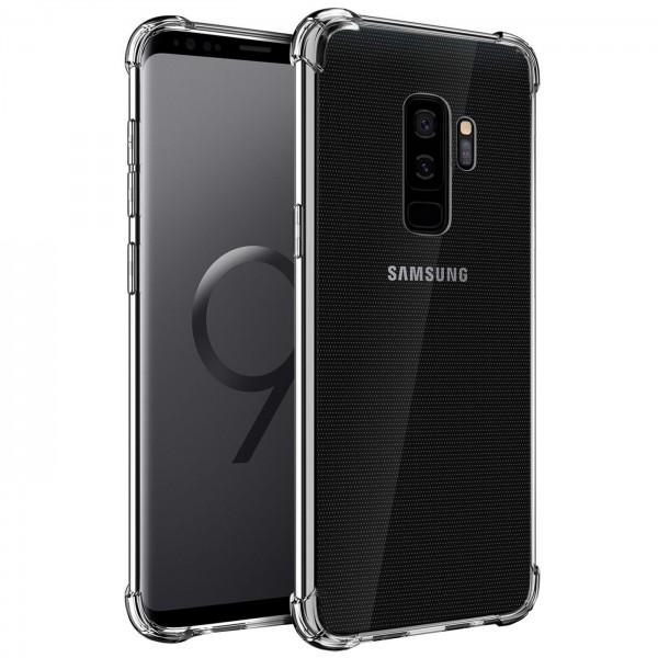 Safers Rugged TPU für Samsung Galaxy S9 Plus Schutzhülle Anti Shock Handy Case Transparent
