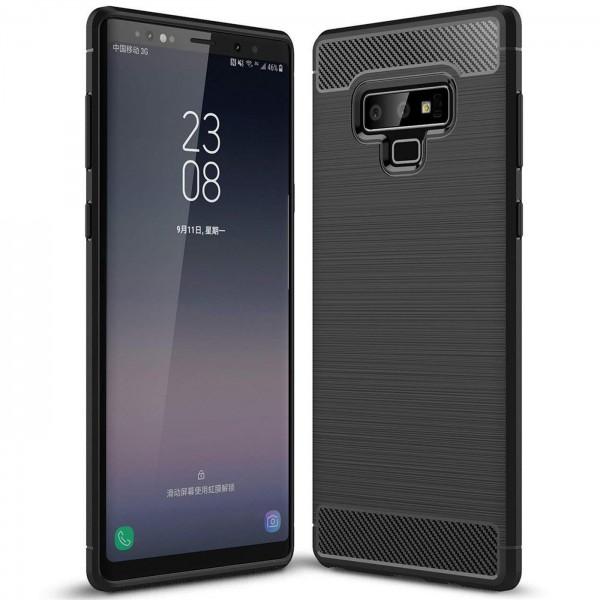 Safers Carbon Hülle für Samsung Galaxy Note 9 Schutzhülle Handy Case Cover