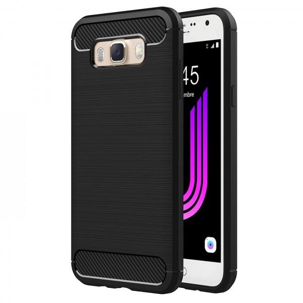 Safers Carbon Hülle für Samsung Galaxy J7 2016 Schutzhülle Handy Case Cover