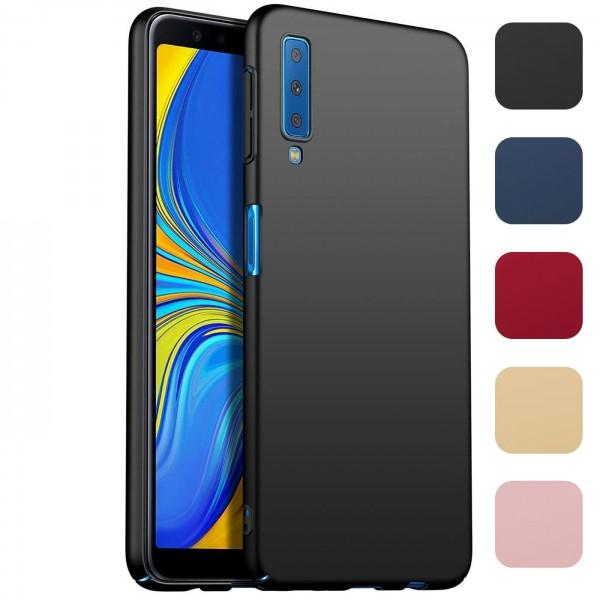 Safers Classic Plain für Samsung Galaxy A7 2018 Hülle Slim Cover Matt Schutzhülle
