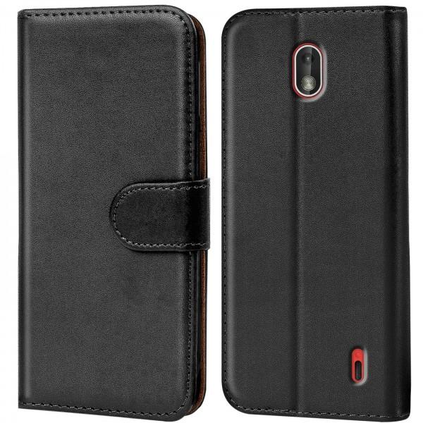 Safers Basic Wallet für Nokia 1 Hülle Bookstyle Klapphülle Handy Schutz Tasche