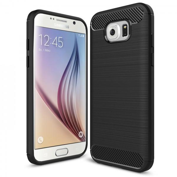 Safers Carbon Hülle für Samsung Galaxy S6 Schutzhülle Handy Case Cover