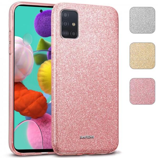 Safers Shiny für Samsung Galaxy A71 Hülle Glitzer Cover TPU Schutzhülle