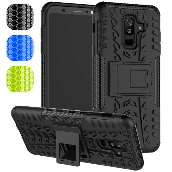 Safers Outdoor Hülle für Samsung Galaxy A6 Plus Case Hybrid Armor Cover Schutzhülle