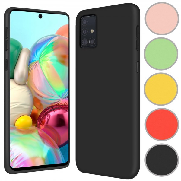 Safers Color TPU für Samsung Galaxy A71 Hülle Soft Silikon Case mit innenliegendem Stoffbezug