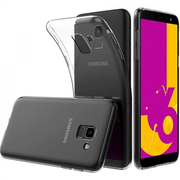 Safers Zero Case für Samsung Galaxy J6 2018 Hülle Transparent Slim Cover Clear Schutzhülle