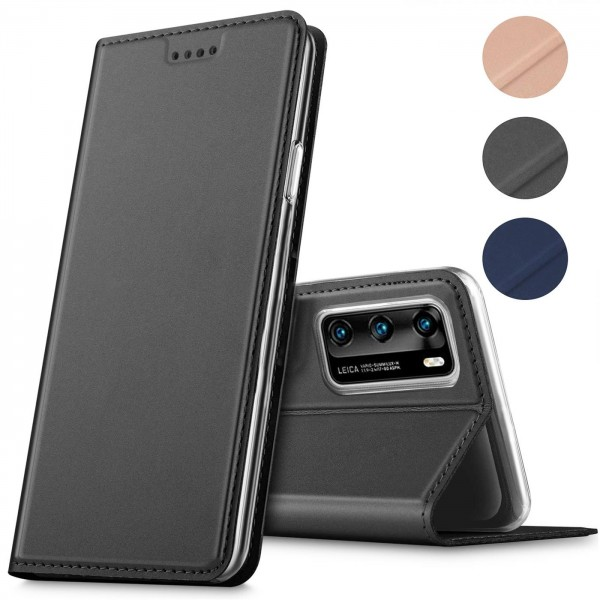 Safers Electro Flip für Huawei P40 Hülle Magnet Case Handy Tasche Klapphülle