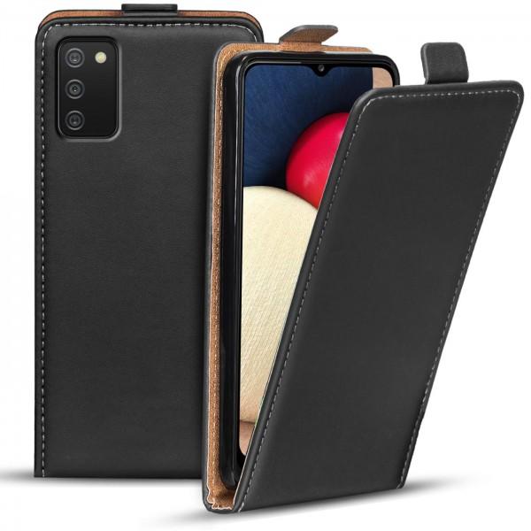 Safers Flipcase für Samsung Galaxy A02s Hülle Klapphülle Cover klassische Handy Schutzhülle
