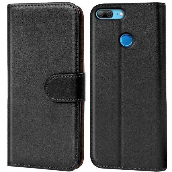 Safers Basic Wallet für Honor 9 Lite Hülle Bookstyle Klapphülle Handy Schutz Tasche