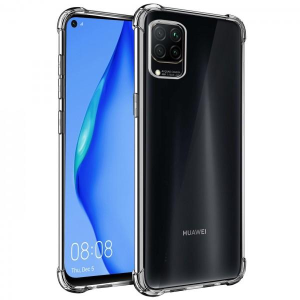 Safers Rugged TPU für Huawei P40 Lite Schutzhülle Anti Shock Handy Case Transparent Cover