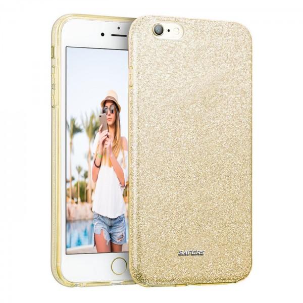 Safers Shiny für Apple iPhone 6 Plus / 6s Plus Hülle Glitzer Cover TPU Schutzhülle