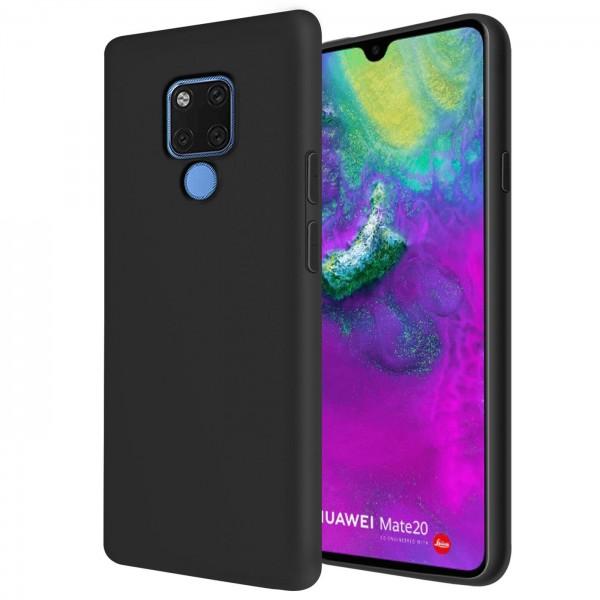 Safers Classic TPU für Huawei Mate 20 Schutzhülle Hülle Schwarz Handy Case