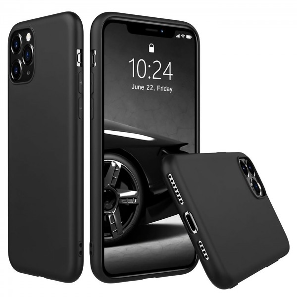 Safers Classic TPU für Apple iPhone 11 Pro Max Schutzhülle Hülle Schwarz Handy Case