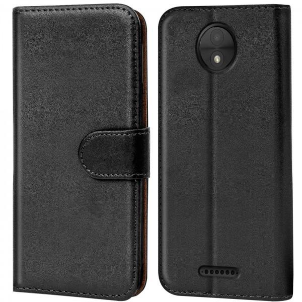 Safers Basic Wallet für Motorola Moto C Hülle Bookstyle Klapphülle Handy Schutz Tasche