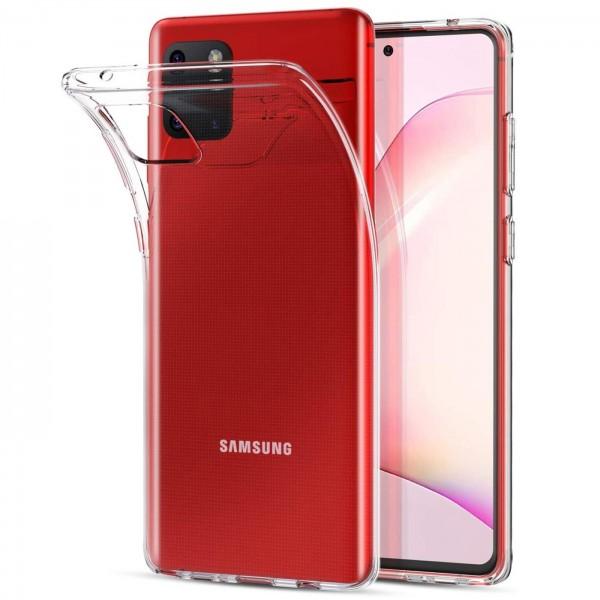 Safers Zero Case für Samsung Galaxy Note 10 Lite Hülle Transparent Slim Cover Clear Schutzhülle