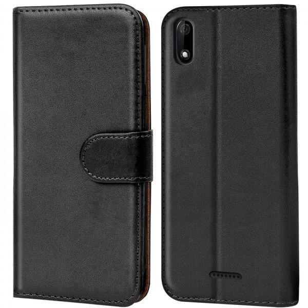 Safers Basic Wallet für Wiko Y60 Hülle Bookstyle Klapphülle Handy Schutz Tasche