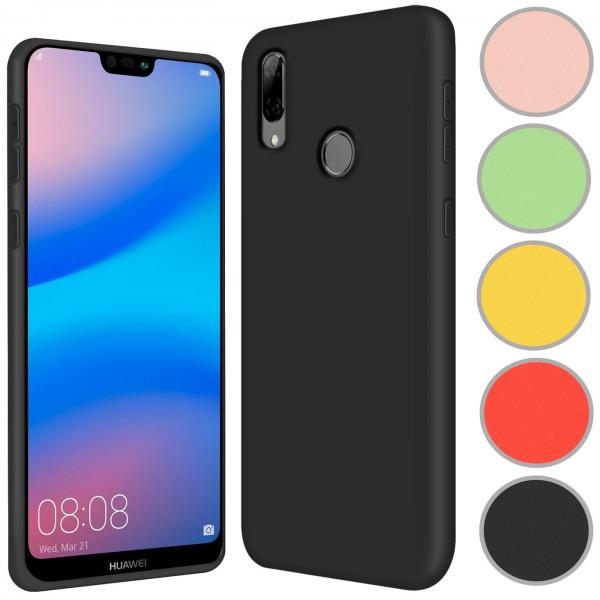 Safers Color TPU für Huawei P20 Lite Hülle Soft Silikon Case mit innenliegendem Stoffbezug