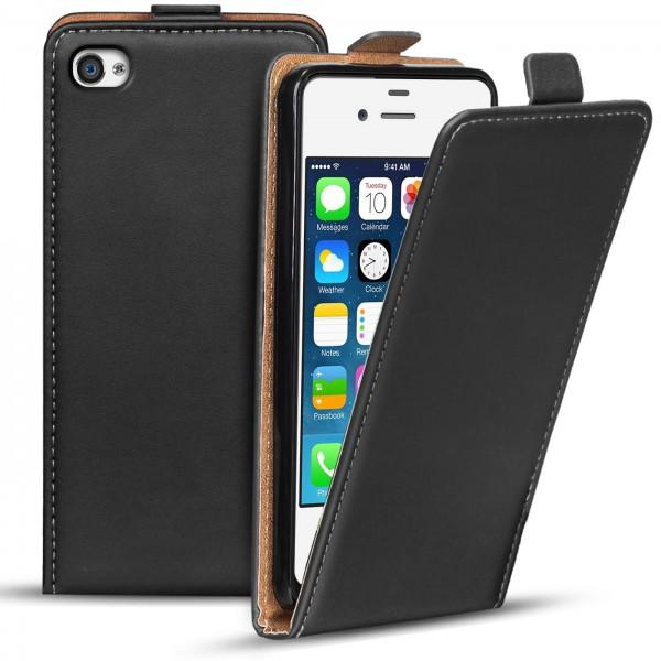 Safers Flipcase für Apple iPhone 4 / 4S Hülle Klapphülle Cover klassische Handy Schutzhülle