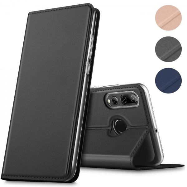 Safers Electro Flip für Huawei P Smart Plus 2019 Hülle Magnet Case Handy Tasche Klapphülle