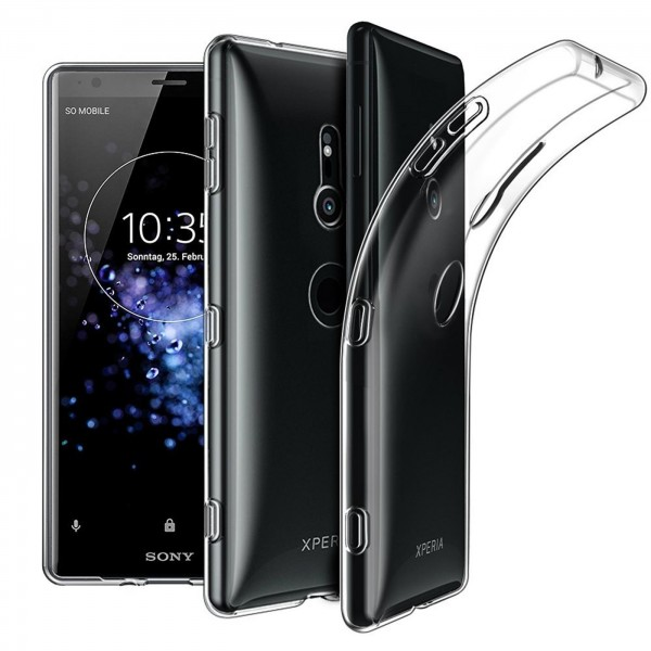 Safers Zero Case für Sony Xperia XZ2 Hülle Transparent Slim Cover Clear Schutzhülle