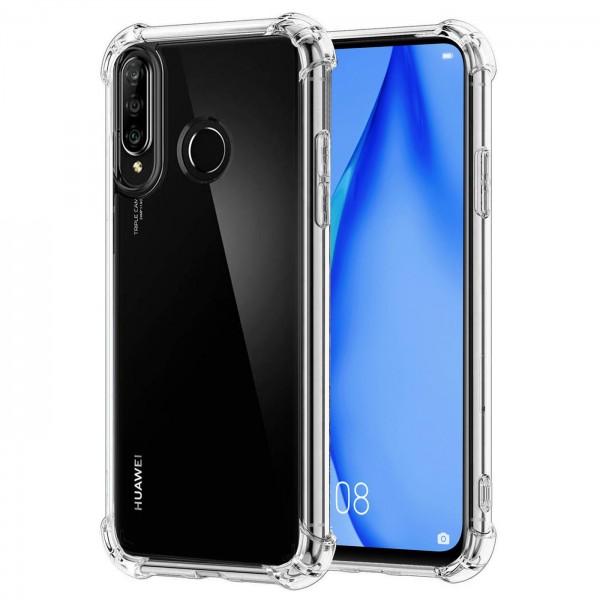 Safers Rugged TPU für Huawei P40 Lite E Schutzhülle Anti Shock Handy Case Transparent Cover
