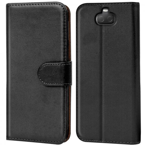 Safers Basic Wallet für Sony Xperia 10 Hülle Bookstyle Klapphülle Handy Schutz Tasche